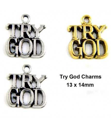 Try God Charm 13x14mm