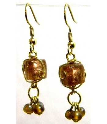 Tan Gold Wire Wrapped...