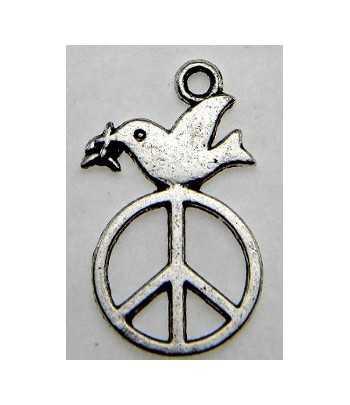 Dove w/Peace Sign Charm...