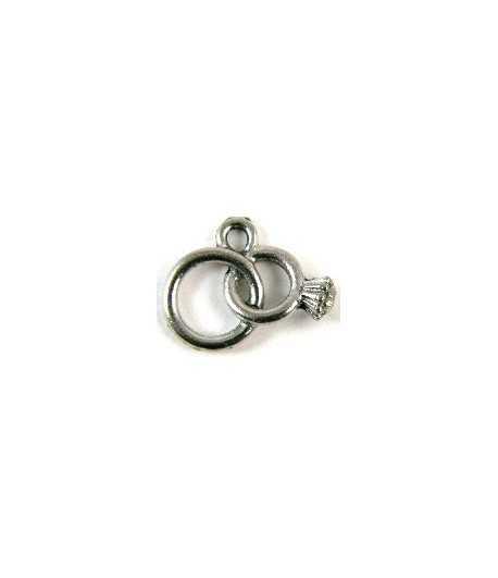 Wedding Rings Charm 18x12mm