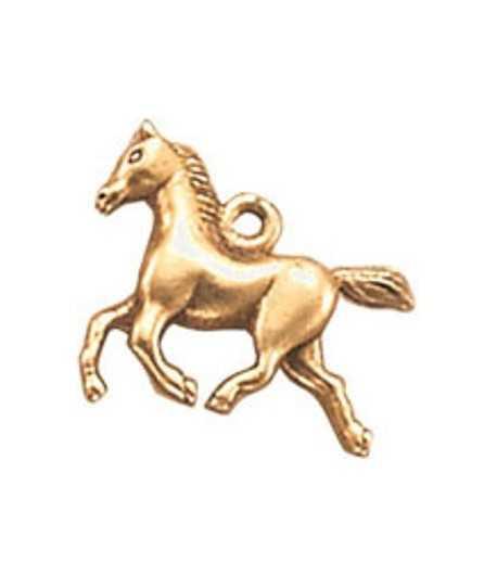Trotting Horse Charm 21x19mm