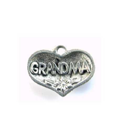 Grandma Heart Charm 19x15mm