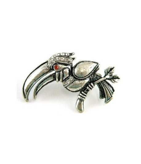 Silver Toucan Adjustable Double Ring - DR-34 (2.6 Inch x 1.5 Inch)
