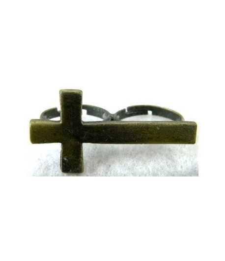 Vintage Cross Adjustable Double Ring - DR-27 (1.65 Inch x 0.85 Inch)