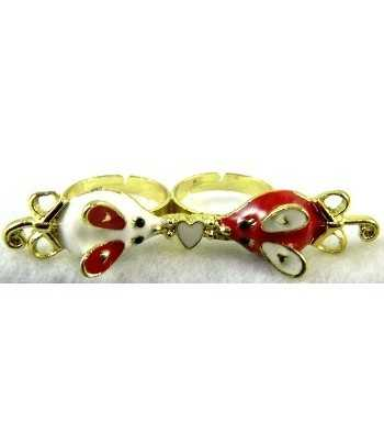Gold Red & White Mouse with...
