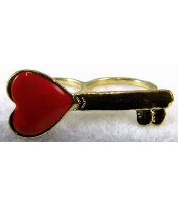 Gold & Red Heart Key...