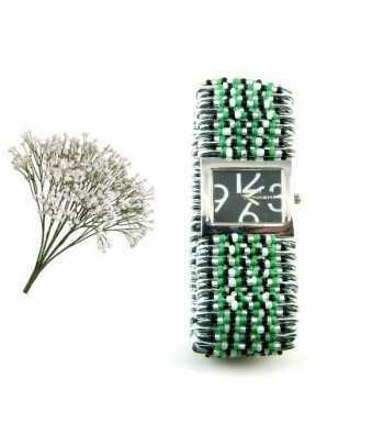 Tibet Silver Link Floral Bracelet Toggle Bracelet - B2984K