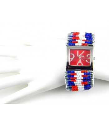 Heavy Crystal Stone Pave Pink Ribbon Heart Stretch Bracelet - JXB05872RDPNK