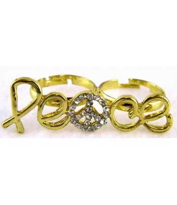 Gold Peace Sign Adjustable...