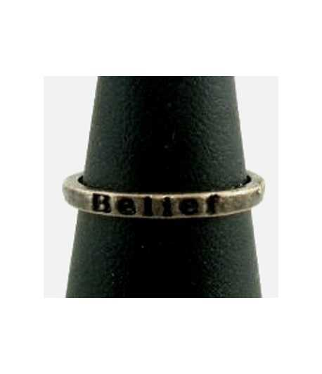 Belief Antique Copper Band - SNAR-13 Size 5 Ring