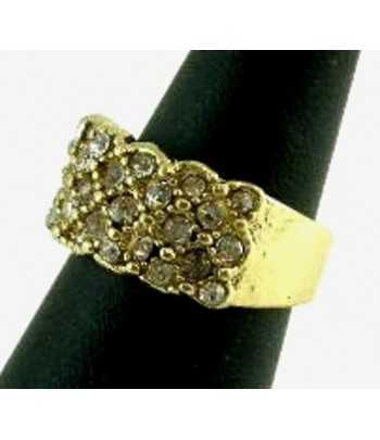 Gold Band with Crystals...