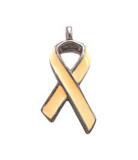 Yellow Awareness Ribbon Charm
