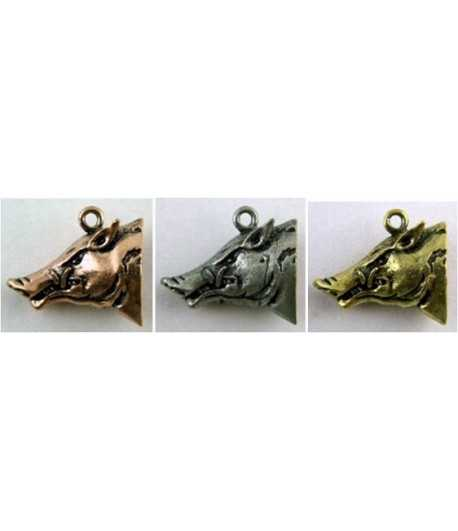 Boar Head Charm 25mm