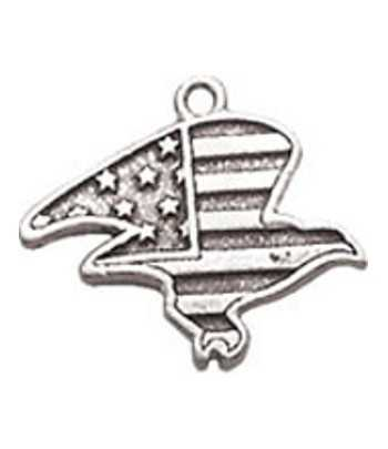 USA Flag Eagle Charm
