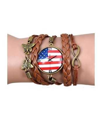 USA Flag Watch Vintage