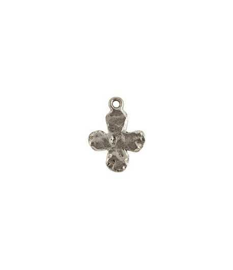 Hammered Cross w/Loop Charm 20x15mm