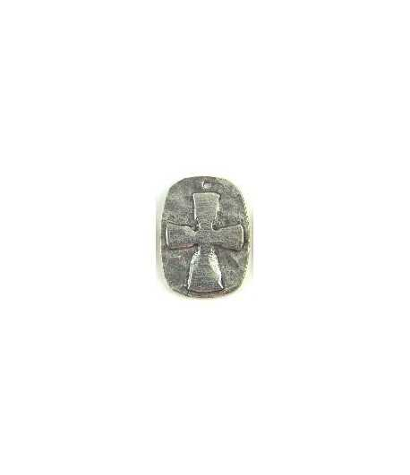 Hammered Cross Relief Charm 26x19mm