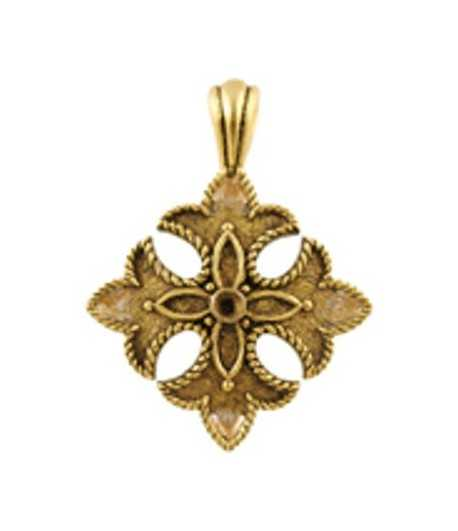Cross Pendant Charm 36x29mm