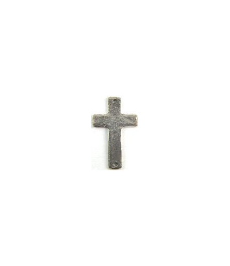Hammered Cross w/2Holes Charm 34x21mm