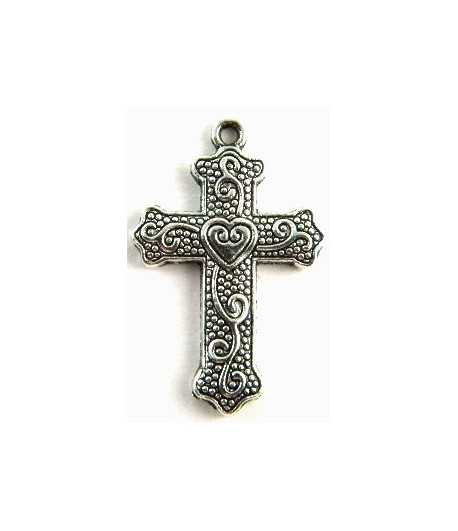 Cross Pendant Charm 34x22mm
