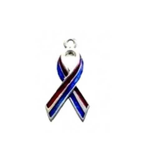American Flag Awareness Ribbon Charm