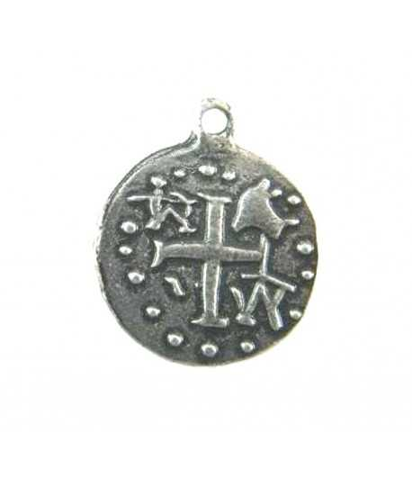 Ancient Disc with Cross Pewter Charm 4935 EDL