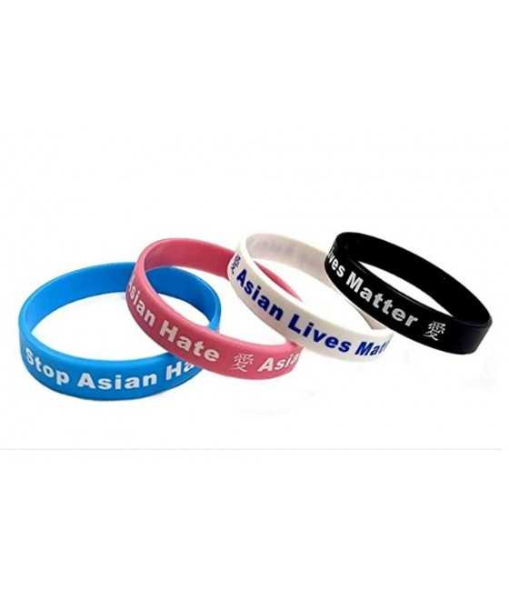 Stop Asian Hate Silicone Bracelets
