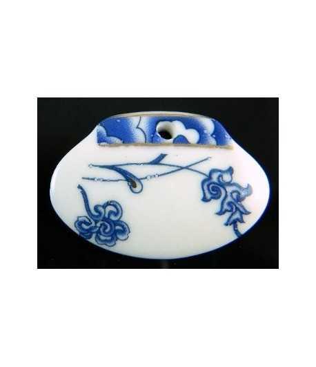 Porcelain Pendant - Jen3395-8-3 36x24mm