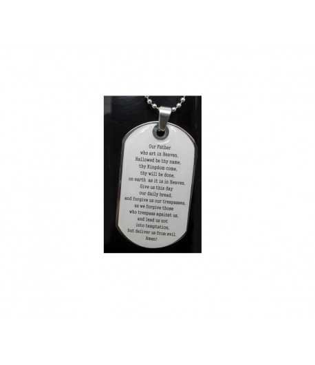 Lord's Prayer Stainless Steel Necklace