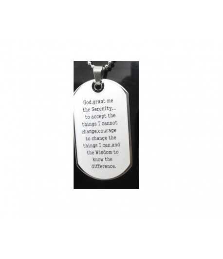 Lord's Serenity Prayer Stainless Steel Necklace