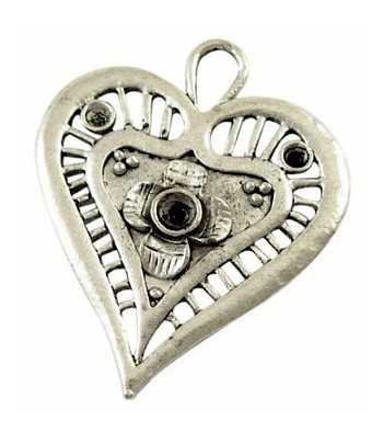 Heart Pewter Pendant -...