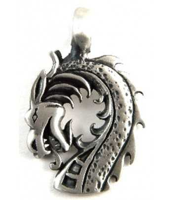 Serpent Head Pewter Pendant...