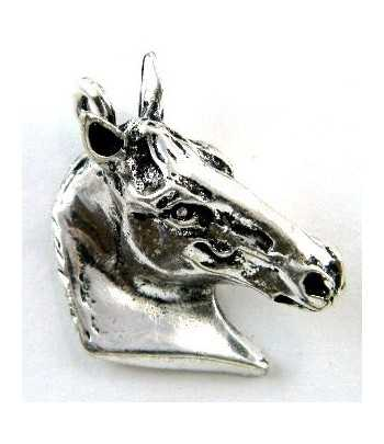3-D Horse Head Pewter...