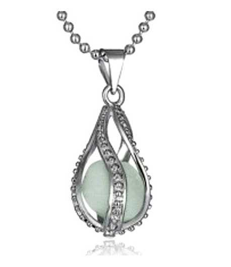 Teardrop 18 Inch Glow Ball Necklace - EPAW9