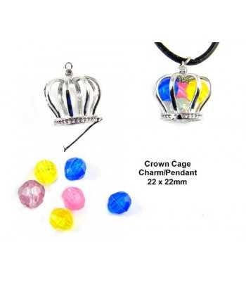 Crown Locket Pendant with...