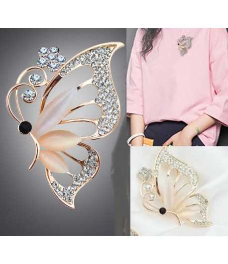Butterfly Brooch with Rhinestones EX-BB