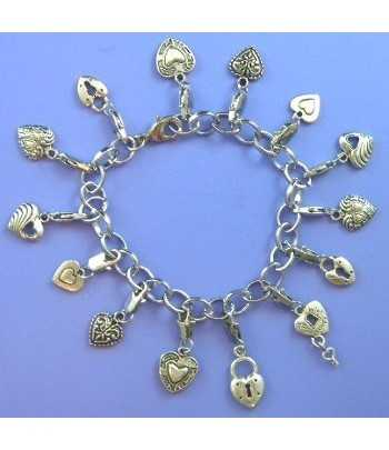 Charm Bracelet with Hearts...