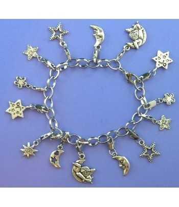 Charm Bracelet with Moon...