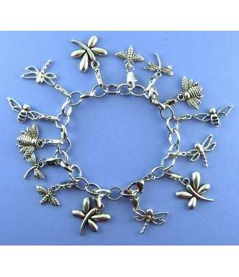 Charm Bracelet with Bugs -...