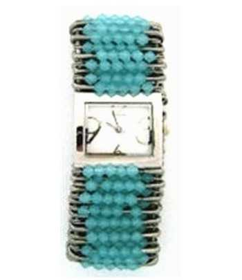 Safety Pin Watch Turquoise...