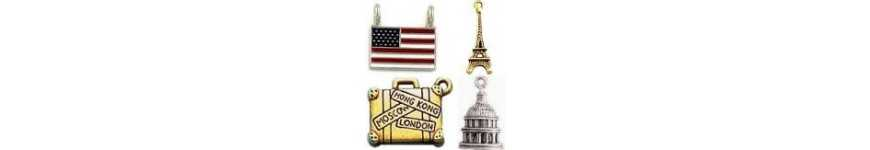 Patriotic Charms and Travel Charms