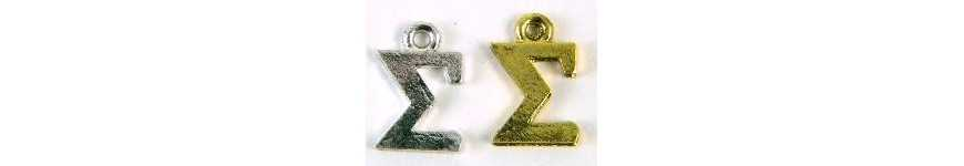 Greek Letters Charms